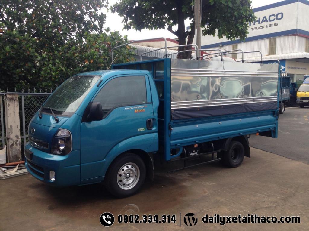 xe tải thaco kia k200 tải trọng 1t9, xe tải kia thùng 3m2
